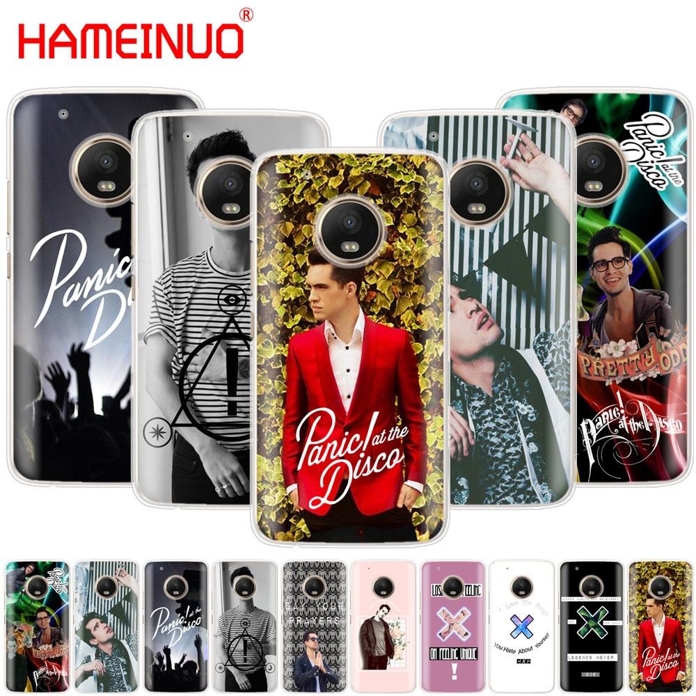 HAMEINUO brendon urie Panic At The Disco case cover for For Motorola Moto X4 E4 C G6 G5 G5S G4 Z2 Z3 PLAY PLUS