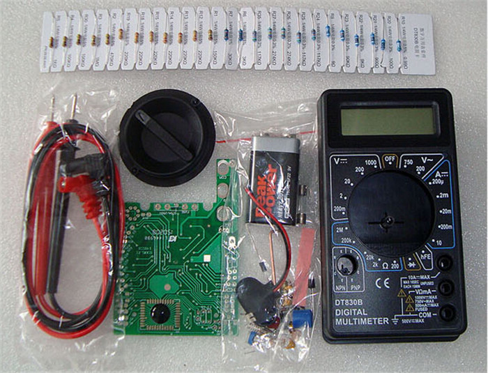 Electronic 2015 New Dt830 Dt830b Digital Multimeter Kit