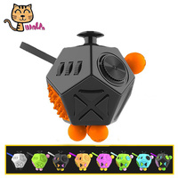 Mini Fidget Cube 2 Toys Anxiety Stress Relief Squeeze Magic Cube Finger Toys Boys Girls Gifts