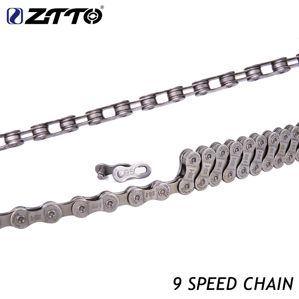 ZTTO MTB Mountain Bike Road Bicycle galvanized 9s 18s 27s 9Speed chain for K7 Parts with Magic Button master Bicycle Parts