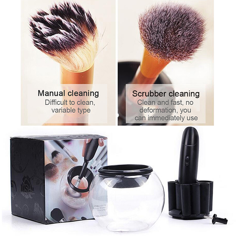Profession Cosmetics brush cleaning machine Suitable for all foundation brush Electric Makeup Brushes Automatic Washing scrubber pair of chic openwork fringed acrylic gemstone embellished earrings for women