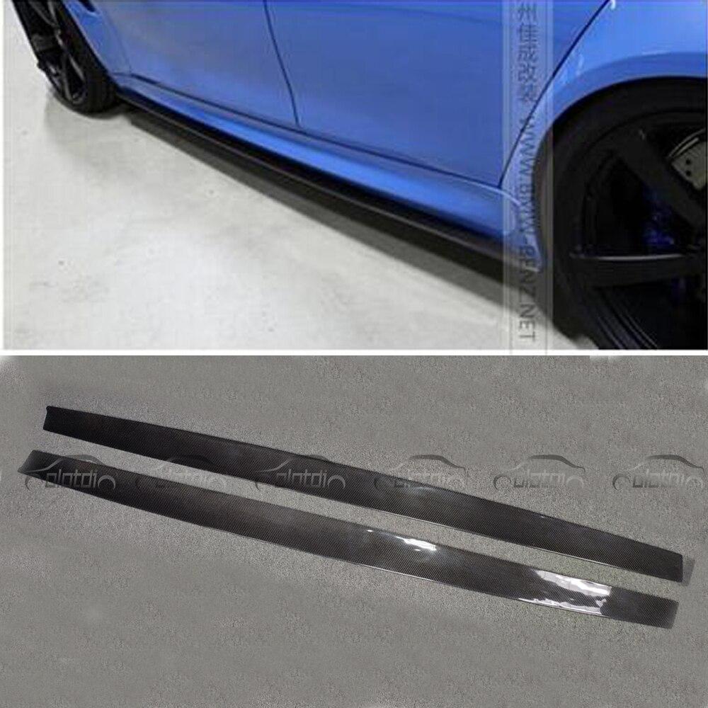 Extension Lèvres F80 F82 F83 M-TECH M Sport P Style fibre de carbone jupes latérales/M3 M4 bodykit pour BMW côté entouré accessoires