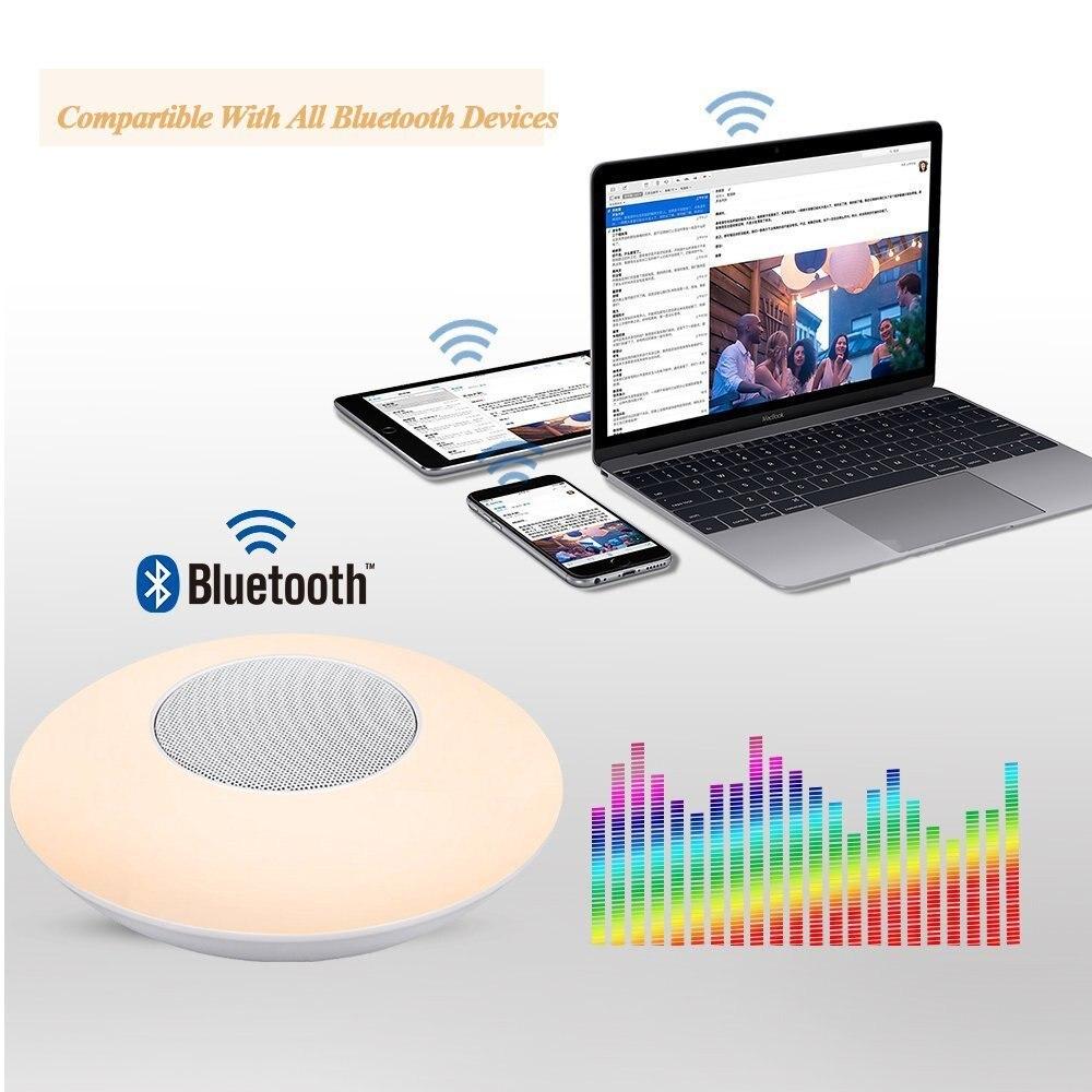 X6 Bluetooth haut-parleur sans fil veilleuse LED RGB coloré haut-parleurs de musique Portable appel mains libres pour téléphone PC avec micro