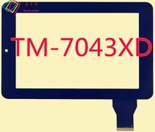 HLD-GG707S HLD130905 M704A1 para texet TM-7043XD TM 7043XD TM-7043 tablet pc panel de la pantalla táctil