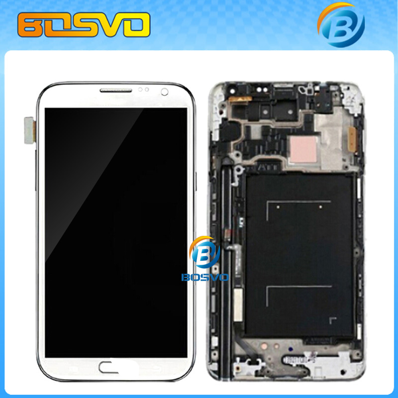 ФОТО Replacement display for Samsung for Galaxy Note II 2 N7100 LCD with Touch Digitizer with frame Assembly 1 piece free shipping