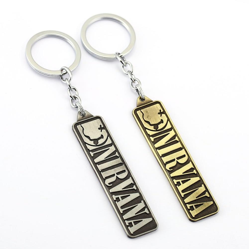 цена на Nirvana Keychain Unplug Music Band Key Rings Holder For Gift Chaveiro Car Key Chain Jewelry Men Souvenir YS11729