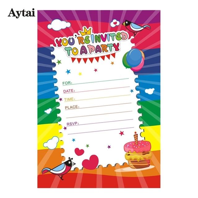 Aliexpress Buy Aytai 10pcs 5x7 Inch Cartoon Happy Birthday
