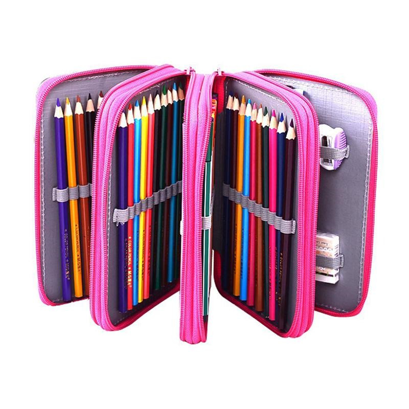 Drawing Stroage Bag Multifunctional Pencil Holder Organizer Pencil Case Pen Pouch Bag Stationary Box With Zipper For School