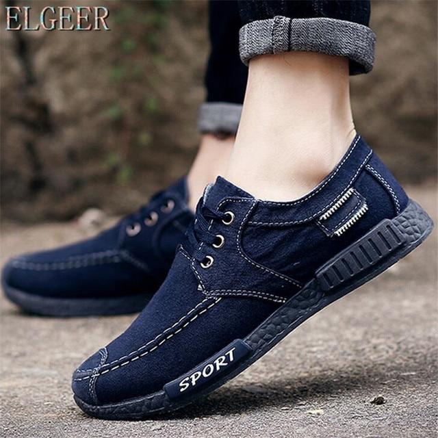 Denim Lace Up Men Casual Shoes