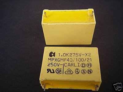 CARLI 250V X2 MPXGMF 40/100/21 1.0K275V/0,1 K relé 10 Uds