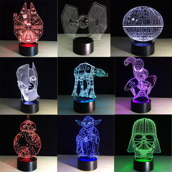 Lampe 3D Creative Cadeaux Mort Star Wars 3D Veilleuse enfant