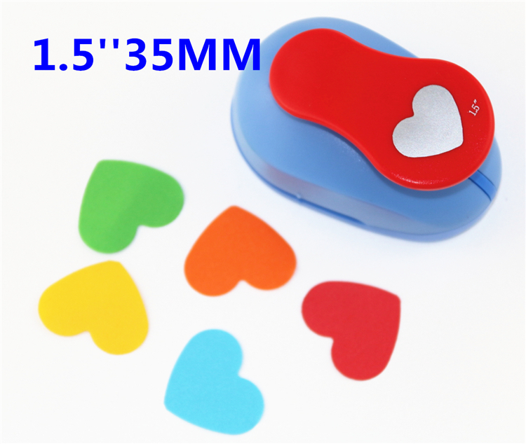 free ship heart shaped1.5'' (37mm) scrapbook paper cutter scrapbooking punches hole punch child craft punch Embosser kid S293610 level corner punch diy craft punch hole punch scrapbook paper cutter hole punch child embosser device perfurador s2999