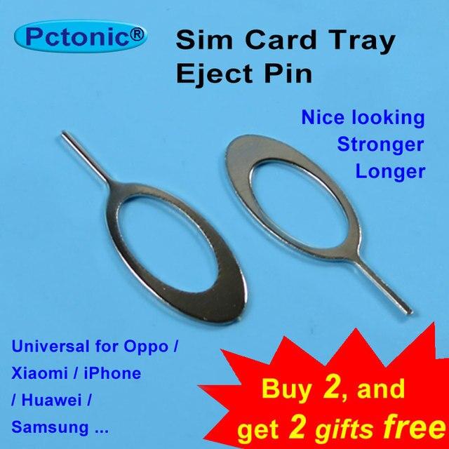 PCTONIC אוניברסלי כרטיס ה-sim מגש הוצא כלי מחט פין ארוך קטן slim חזק מפליט פין עבור Oppo חכם טלפון נייד iphone