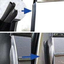 Gumowa uszczelka do drzwi izolacja akustyczna uszczelka do drzwi samochodowych B filar auto uszczelki 2X80cm drzwi samochodu uszczelka car stype akcesoria do samochodu