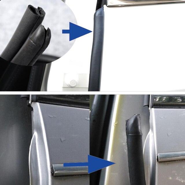 Joint détanchéité en caoutchouc pour porte de voiture, isolation phonique, pilier B, 2x80cm, coupe vent, accessoires de style automobile