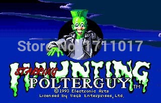Haunting The Starring Poter Guy 16 bit MD Game Card For Sega Mega Drive For Genesis