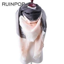 RUINPOP Fashion Women Winter Scarf Luxury Brand Ladies Scarves Wraps Warm Shawls Scarf For girls Triangle Bandana Drop Shipping