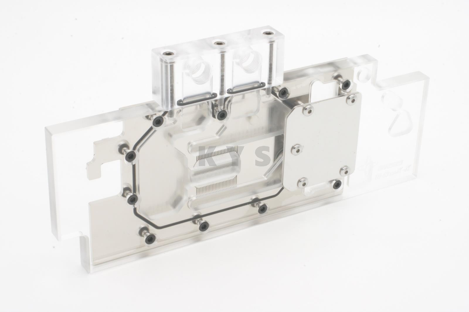 Bykski A-R290X-X R9 290X R290 VGA Water Cooling Block Full Cover Transparent Top with Backplate Lengthen Version цена