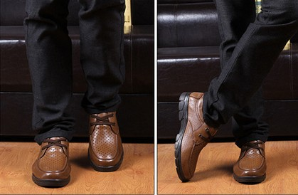 Mocasines Zapatos black Del Cuero 100 Hombres Respirable Suaves De Conducción Brown Más Genuino Negocio Negocio Ocasional Tamaño Los STwT6fdxq