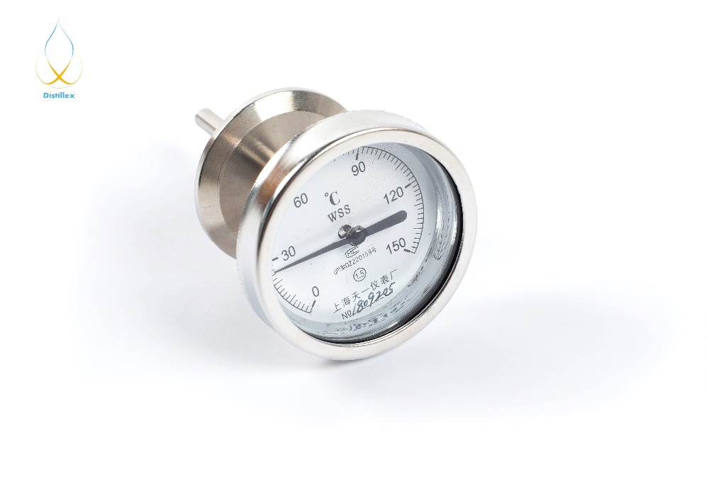 1,5 OD50,5mm Tri Clamp Bimetal thermometer 0 150C SS304Pipe Fittings