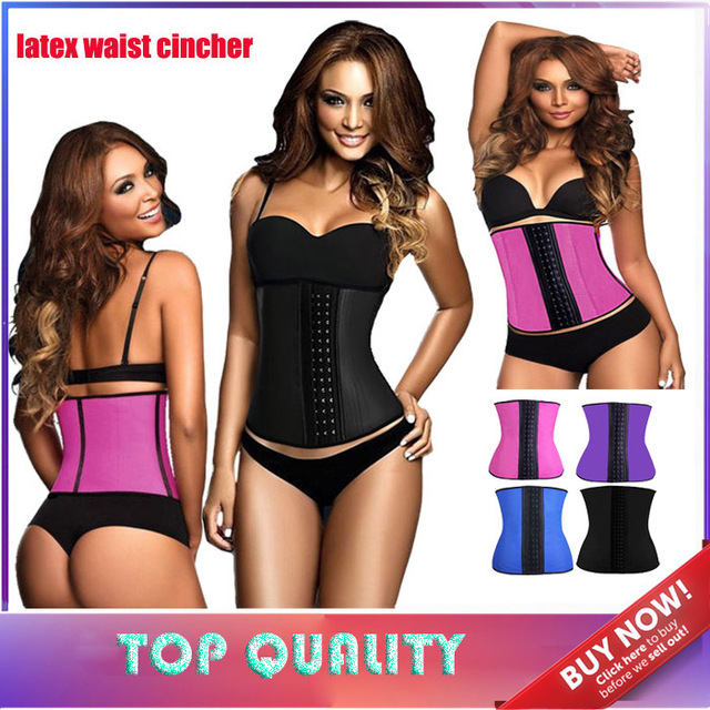Latex Waist Cincher Sport Waist Trainer Latex Waist Cincher Cherry Hot Body  Shaper Fitness Gaine Amincissante Fajas 12b3e6497f8