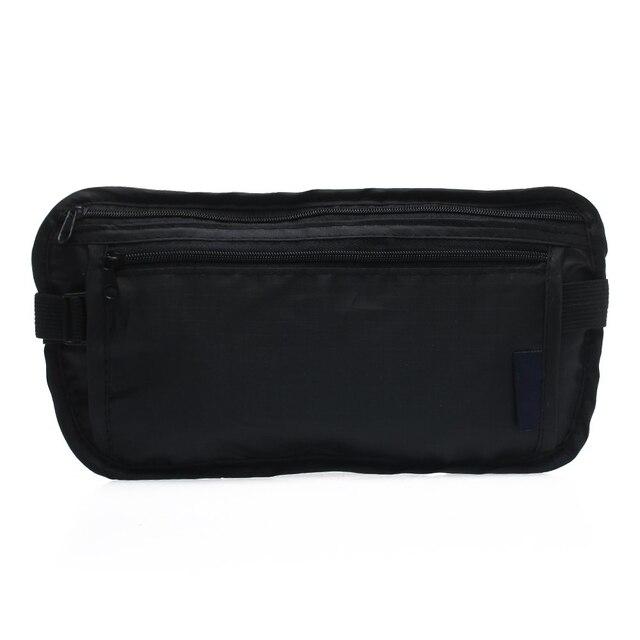 Atacado 10 * Unisex Bumbag Bloco de Fanny Cintura Bag Bolsa Saco de Nylon Preto