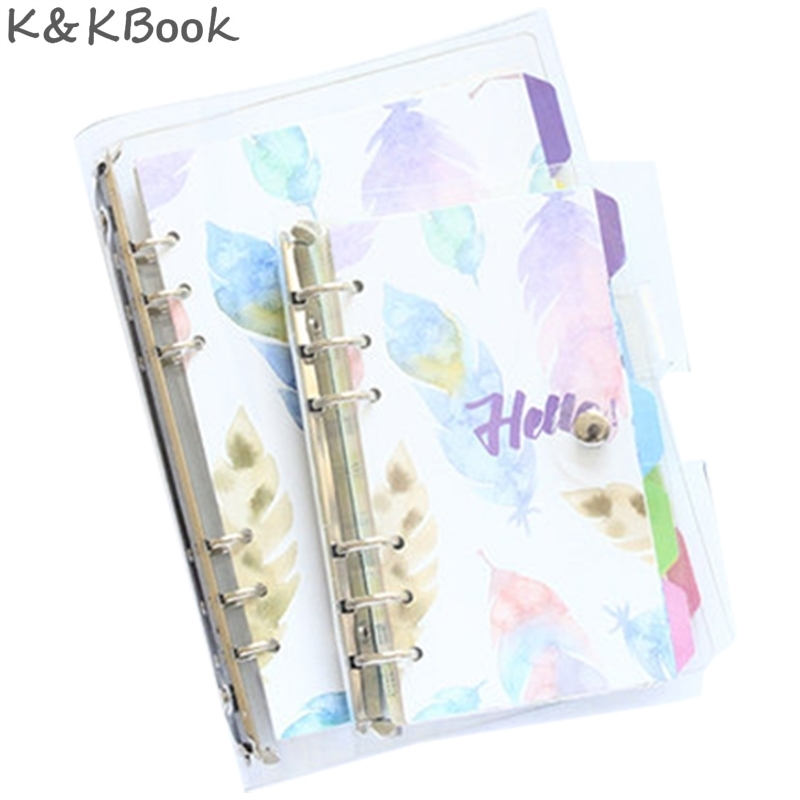 K&KBOOK KK201 Kawaii PVC Notebook Diary Transparent Cover Spiral Notbook A5 Cute A7 A6 A5 Personal Planner Binder Agenda Planner excellent good qualitly a5 a6 ring binder planner personal diary notebook gifts