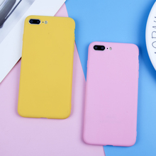 EIRMEON Candy Color Case For iPhone 7 XR XS Max 6 6s 8 Plus X 5 5s SE Ultra thin Soft TPU Frosted Phone Back Covers