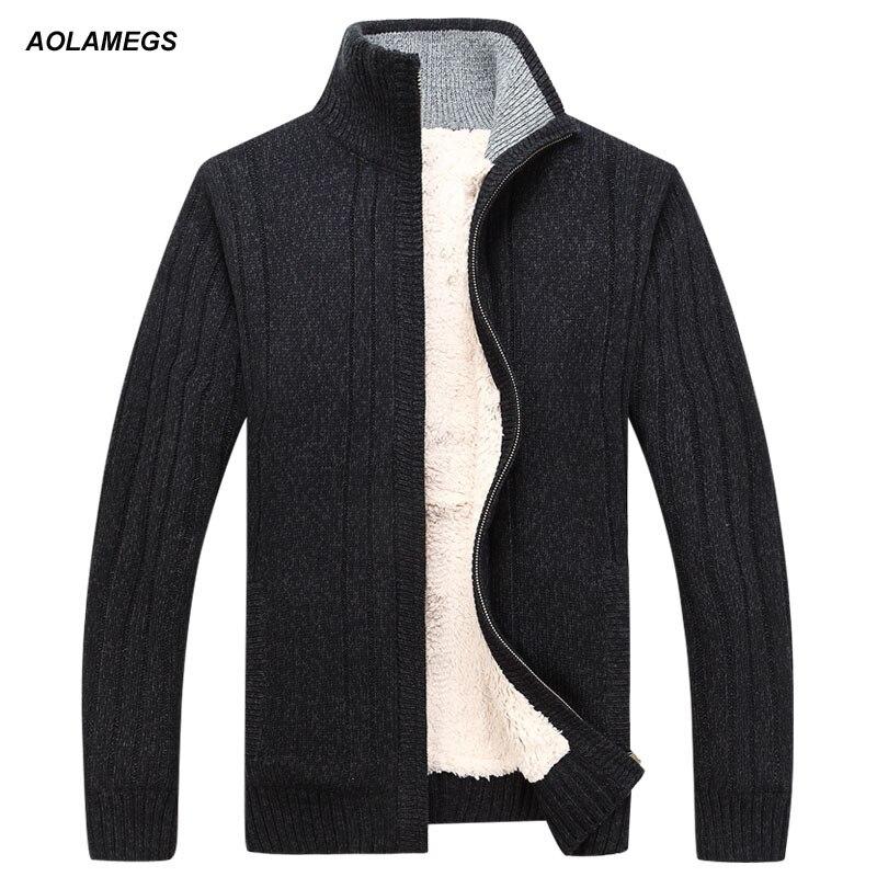 Aolamegs Sweater Men Autumn Winter Wool