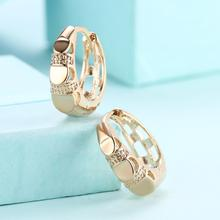 fashion women earing  gold filled Hollow Round Hoop Earrings trendy Wholesale Jewelry Gift Brincos feminino