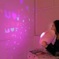 Творческий светящийся световой индикатор проекции проектор Подушки Детские Подушки плюшевые игрушки Ночной свет звезд кукла детские, для ...