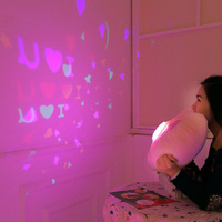 Creative Glowing Luminous LED light projection Projector Pillow Cushion Plush Toy Night Light Stars Doll Baby Children Gift