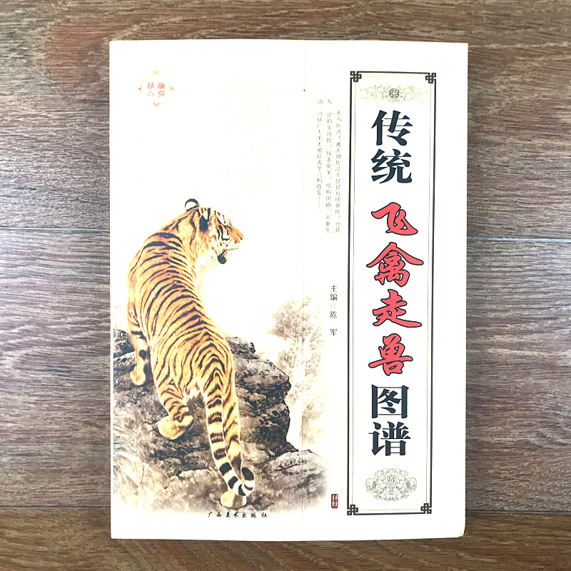 Traditional Chinese Birds Animal Tiger Eagle Painting Art Book / Bai Miao Line Drawing Art Textbook
