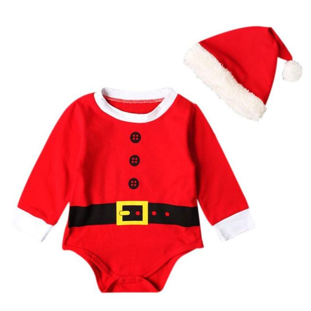 669e8be1ac5d 0 18M Baby Boys Girls Christmas Rompers Santa Claus Cosplay Jumpsuit ...