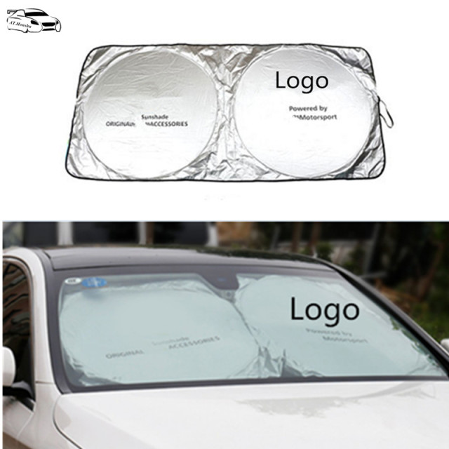 Car Windshield Sunshade For Mercedes Benz AMG LOGO W203 W211 W204 W124 W210  AMG W212 Cla cb41fc445db