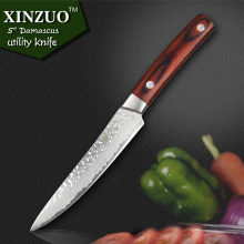 XINZUO XINZUO NEW 5″ Multi-purpose knife Damascus Steel kitchen knives utility cutter kitchen tool utility knife FREE SHIPPING