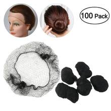 100pcs Hair Nets Invisible Elastic Edge Mesh Hair Styling Hairnet Soft Lines for Dancing Sporting Hair Net Wigs Weaving Black(China)