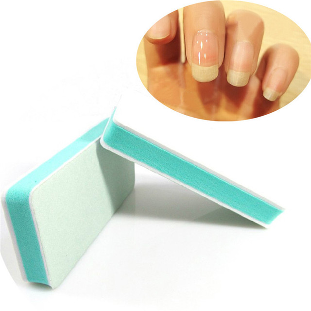 Buffer Sanding Block Acrylic Nail Art Care Tips Files Tool Finger Toe Use