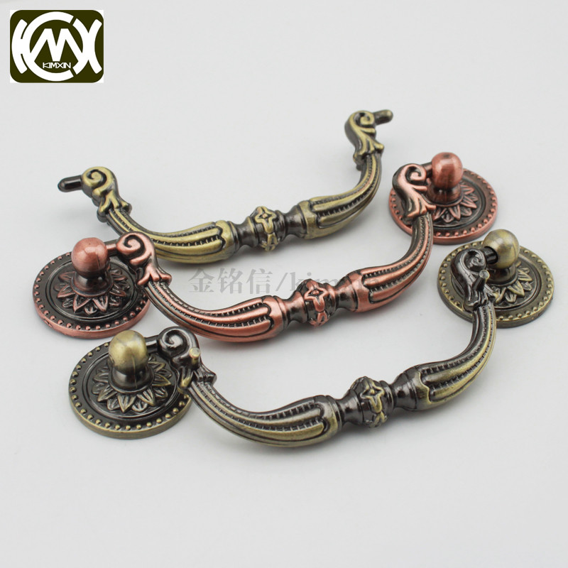 5pc 96*38mm Manufacturer sales High-grade zinc alloy Antique Handle Knobs and pulls for cabinets Furniture Hardware KIMXIN W-137 manufacturer of spot sales promotion