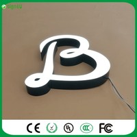 Factoy Outlet Outdoor Advertising Acrylic Front Light 3d Channel Letter