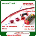 810mm long 11/8 Fat handlebar + cnc Fat bar clamps + Square 2.0 Fat Bar Pad + New ProTaper Handlebar Grip set for dirt pit bike
