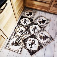 1PCS Nordic PV Leather Skins Kitchen Carpet Rugs Mats for Living Room Bathroom Absorbent Slip resistant Doormats Kitchen Mat