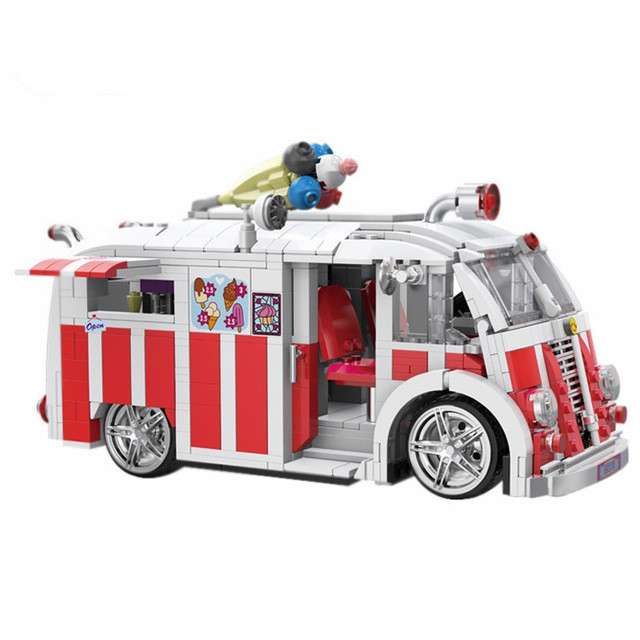 08004 1000PSC Creator Camper Van Model Building Kits Bricks Toys Compatible Gifts For kids toy sueway 100% 08004