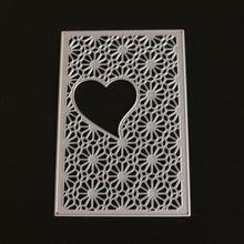 Любовь Сердце рамки металлические штампы и прозрачные для «сделай