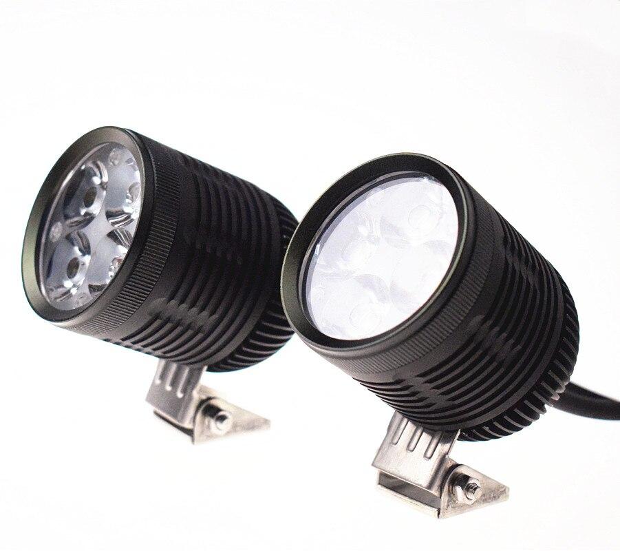 Moto led lumière/projecteur 4 * U2 led puce 40 w 4400 lumens étanche led la lumière d'entraînement de moto De Voiture. SUV. ATV. Bateau