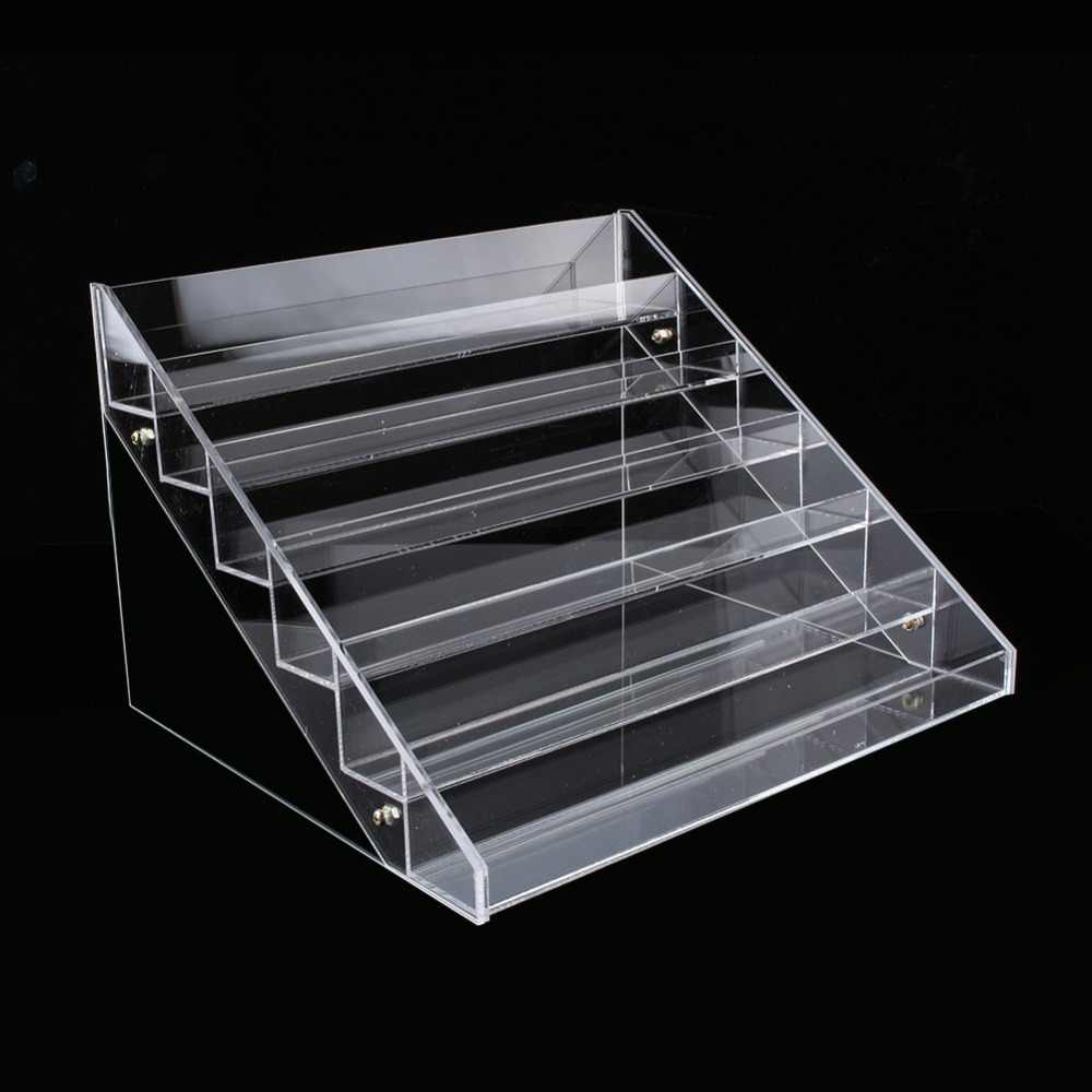 1Pc Multi-layer Rack Acrylic Clear Nail Polish Makeup Organizer Storage Rack Cosmetic Varnish Display Stand Holder Manicure Tool