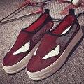 2016 новые мокасины обувь сетка обувь небольшие толстым дном туфли на платформе повседневная обувь воздухопроницаемой сеткой монстр zapatos mujer W217