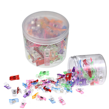 100Pcs Mix Size Plastic Sewing Clips Garment Clips Clamps For DIY Patchwork Fabric Quilting Sewing Knitting Clips With Box hl 18x15mm 50 100pcs mix color fish shank plastic buttons children s garment sewing accessories diy crafts