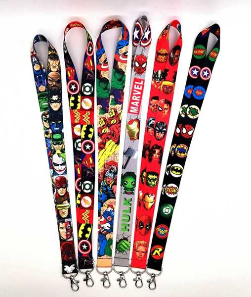 Hot Sale! Mix Avengers Super Hero Lanyard Gantungan Kunci Leher Lanyard Hadiah Pesta BB-7