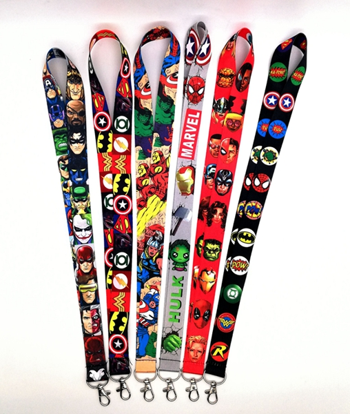 Hot Sale!   Mix Avengers  Super Hero Lanyard Key Chains Neck Lanyard Gifts Party Favors BB-7